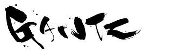 Gantz font