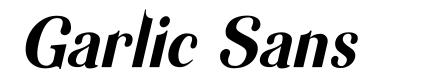 Garlic Sans font