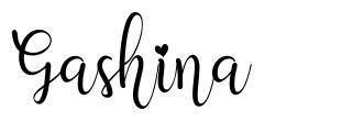 Gashina 字形