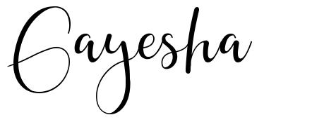 Gayesha font