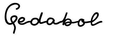 Gedabol font