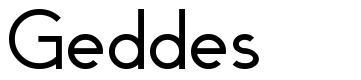 Geddes font