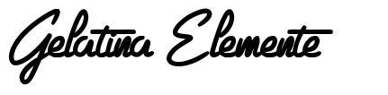 Gelatina Elemente font