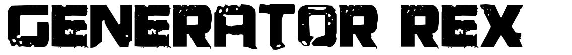 Generator Rex font