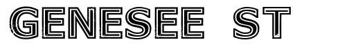Genesee St font