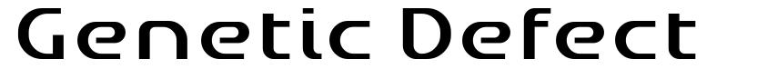 Genetic Defect font