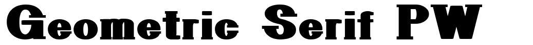 Geometric Serif PW