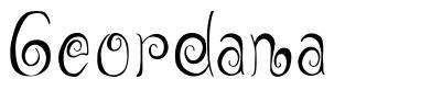 Geordana font