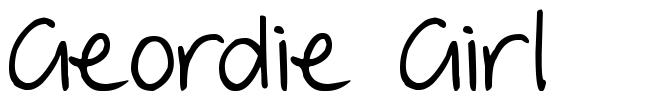 Geordie Girl font