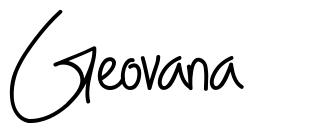 Geovana schriftart