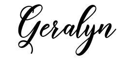Geralyn font