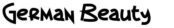 German Beauty font