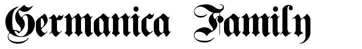 Germanica Family 字形
