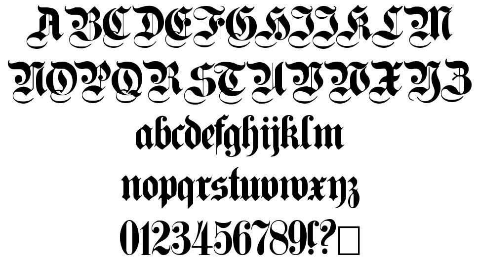 Germanica Family font
