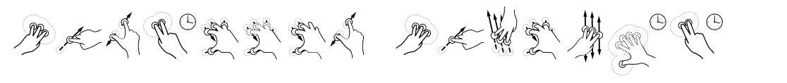 Gesture Glyphs font