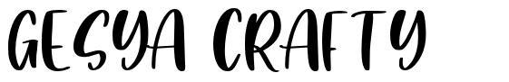 Gesya Crafty font