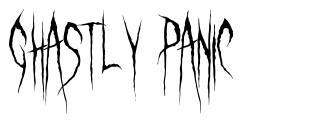 Ghastly Panic 字形