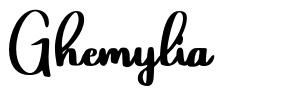 Ghemylia フォント