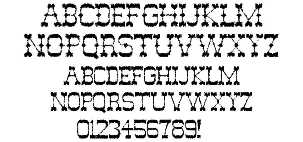 Ghost Of The Wild West font