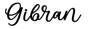 Gibran шрифт