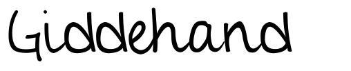Giddehand font