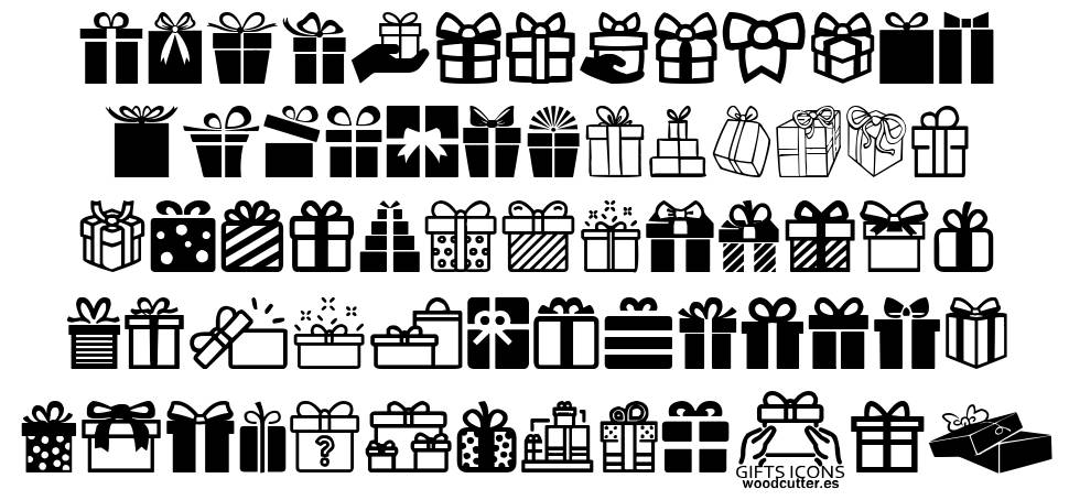 Gifts Icons 字形