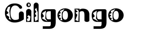Gilgongo font