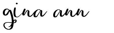 Gina Ann шрифт