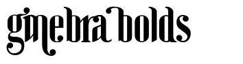 Ginebra Bolds font
