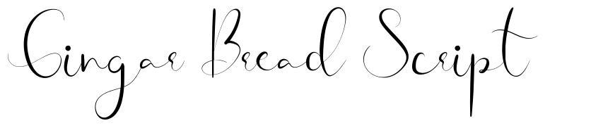 Gingar Bread Script schriftart