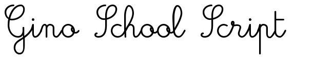 Gino School Script 字形