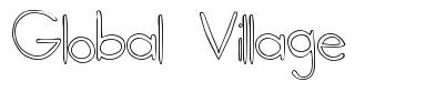 Global Village font