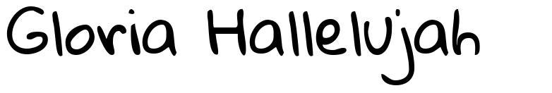 Gloria Hallelujah font