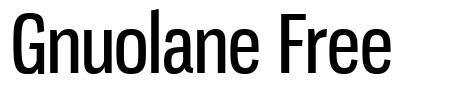 Gnuolane Free font