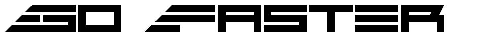 Go Faster font