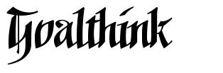 Goalthink フォント