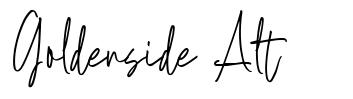 Goldenside Alt font