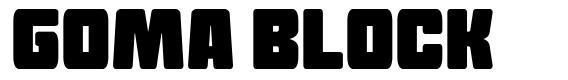 Goma Block font