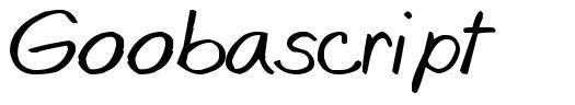 Goobascript 字形