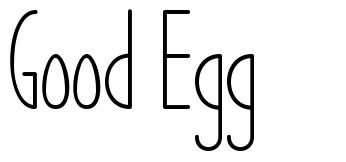 Good Egg font
