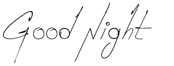 Good Night font