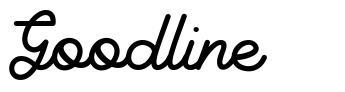 Goodline font