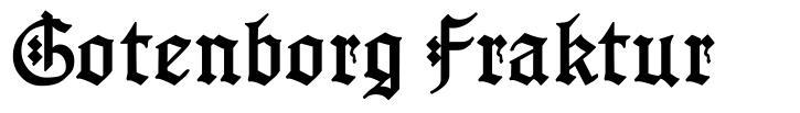 Gotenborg Fraktur font