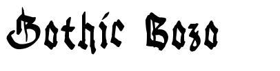 Gothic Bozo font