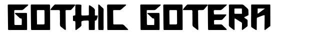Gothic Gotera font