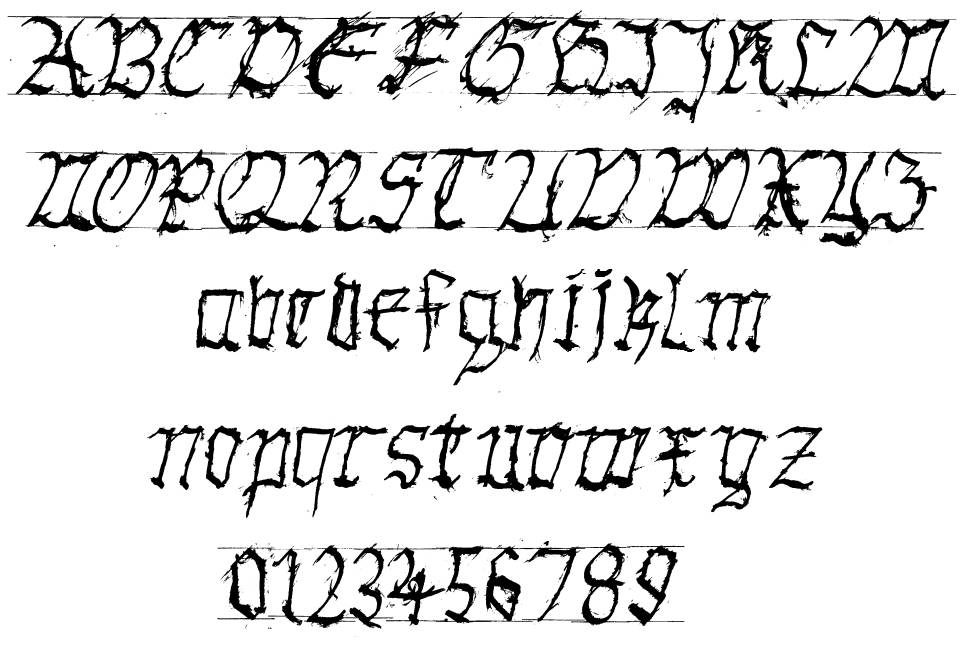 Gothic Hand Dirty font