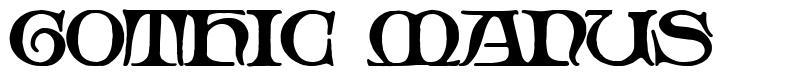 Gothic Manus font
