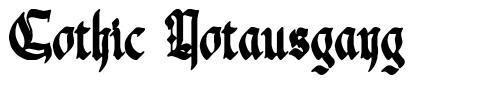 Gothic Notausgang font