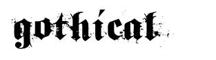 Gothical 字形