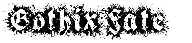 Gothix Fate 字形